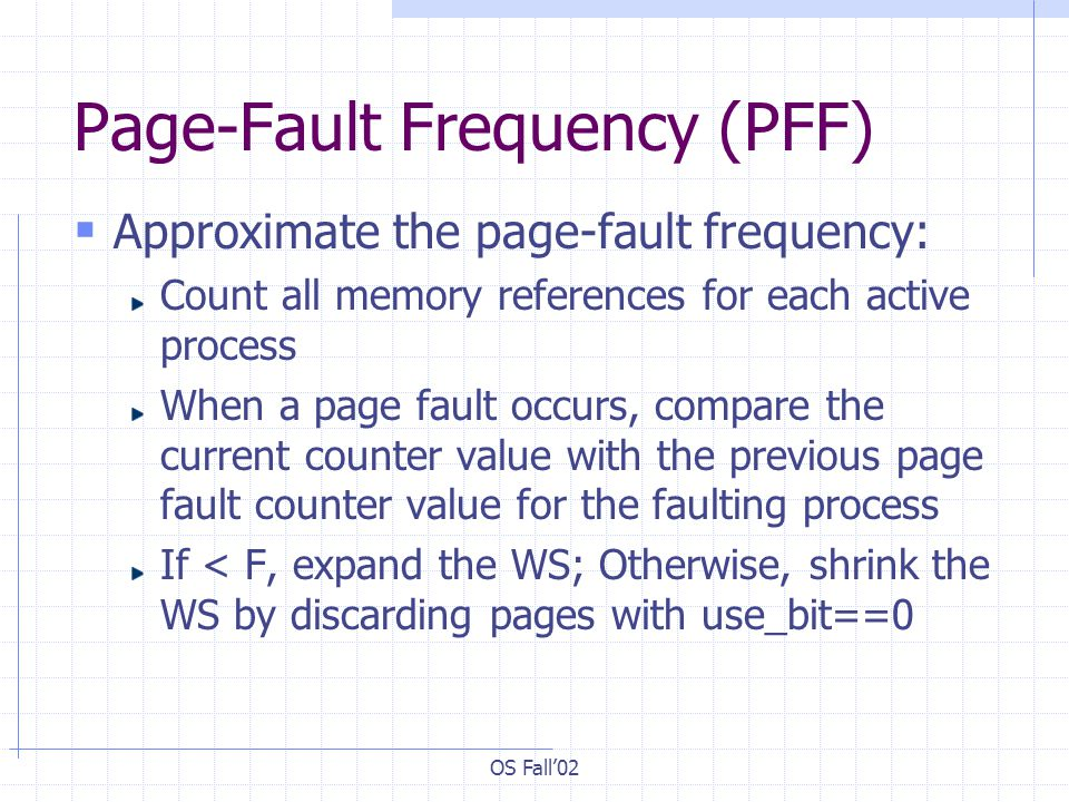 Page-Fault Frequency (PFF)