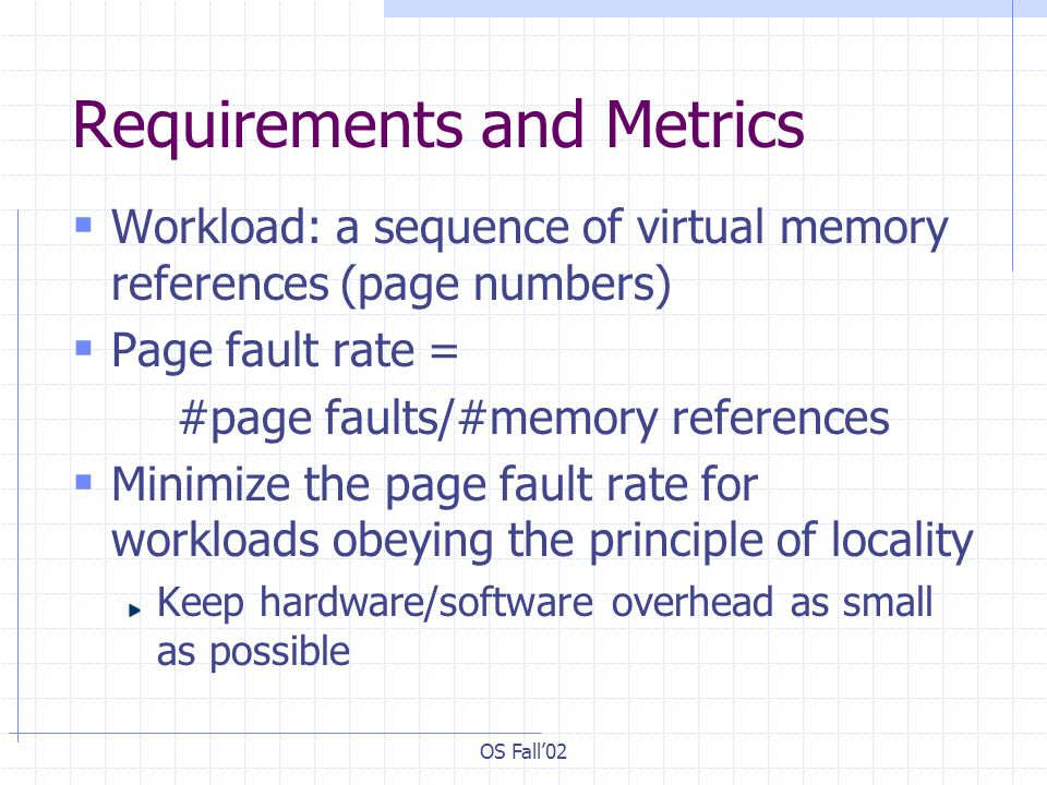 Requirements and Metrics