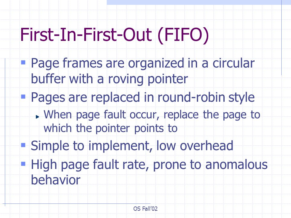 First-In-First-Out (FIFO)