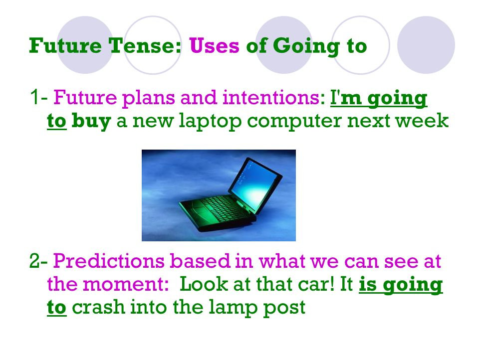 Future Tense: Uses of Going to
