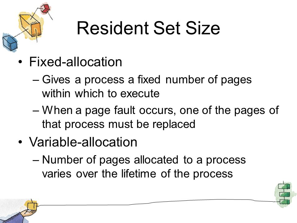 Resident Set Size Fixed-allocation Variable-allocation