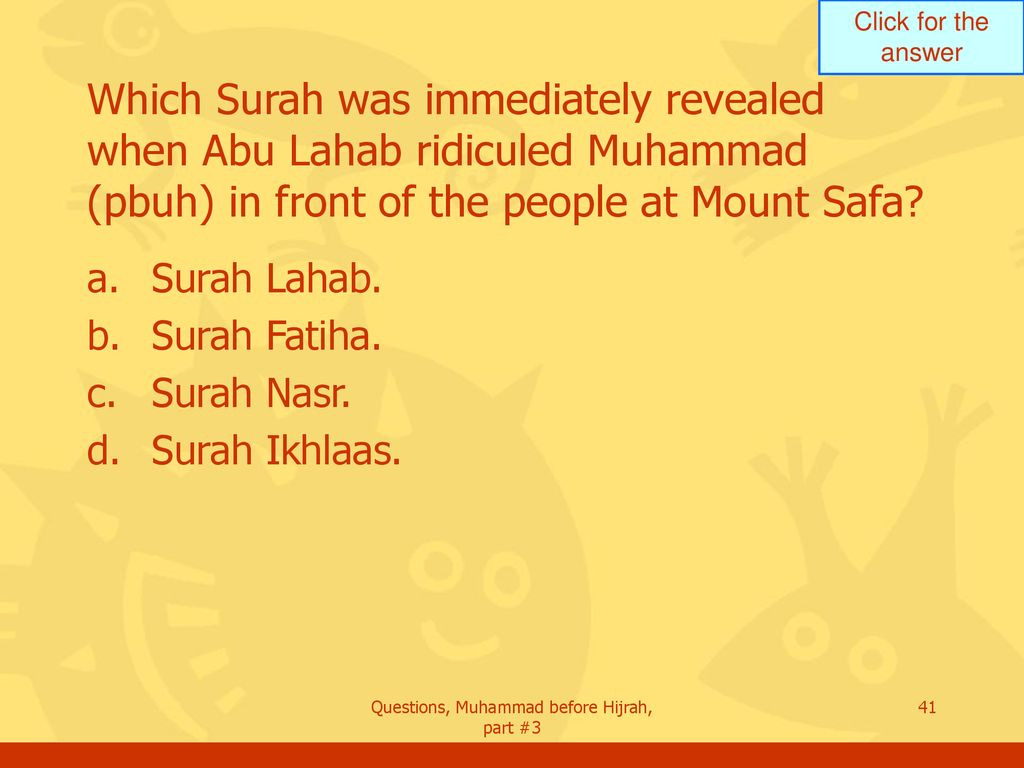 Questions about Muhammad (pbuh) - ppt download
