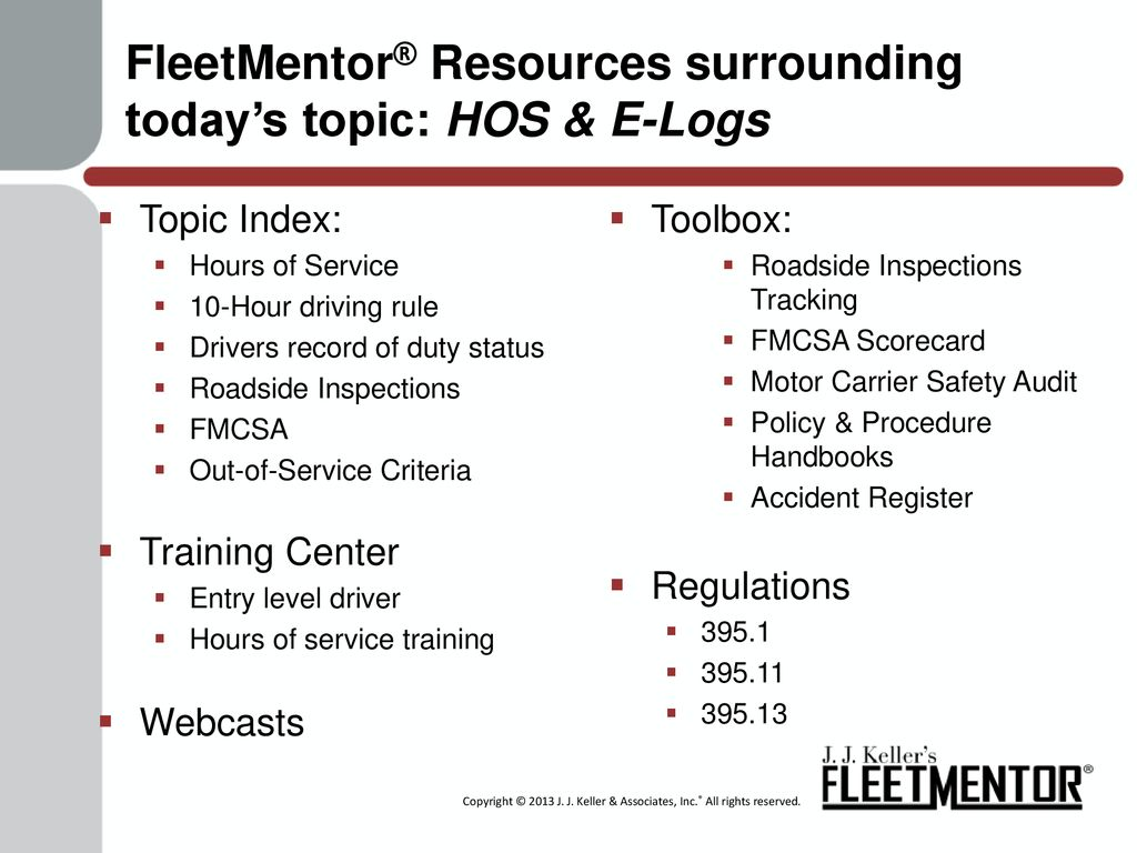 HOS & E-Logs The Clock is Ticking  - ppt download