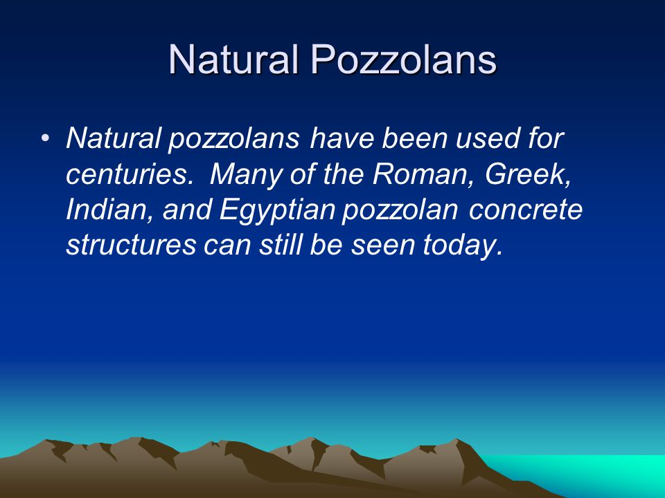 Natural Pozzolans