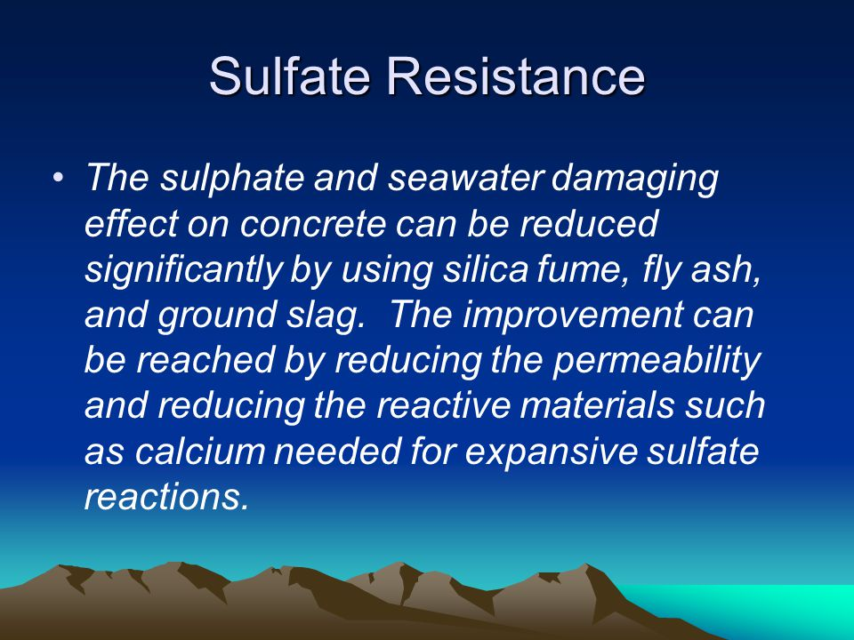 Sulfate Resistance