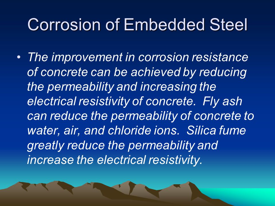 Corrosion of Embedded Steel