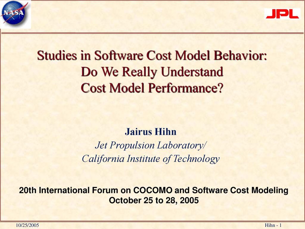 20th International Forum on COCOMO and Software Cost