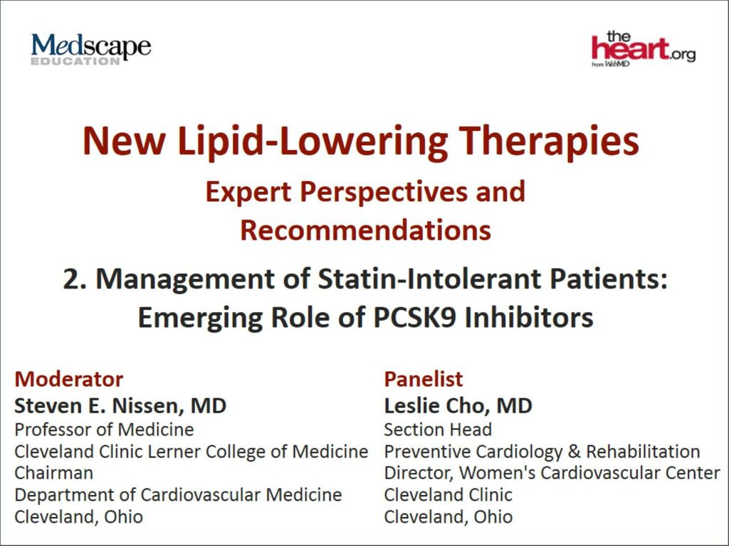 New Lipid-Lowering Therapies - ppt download
