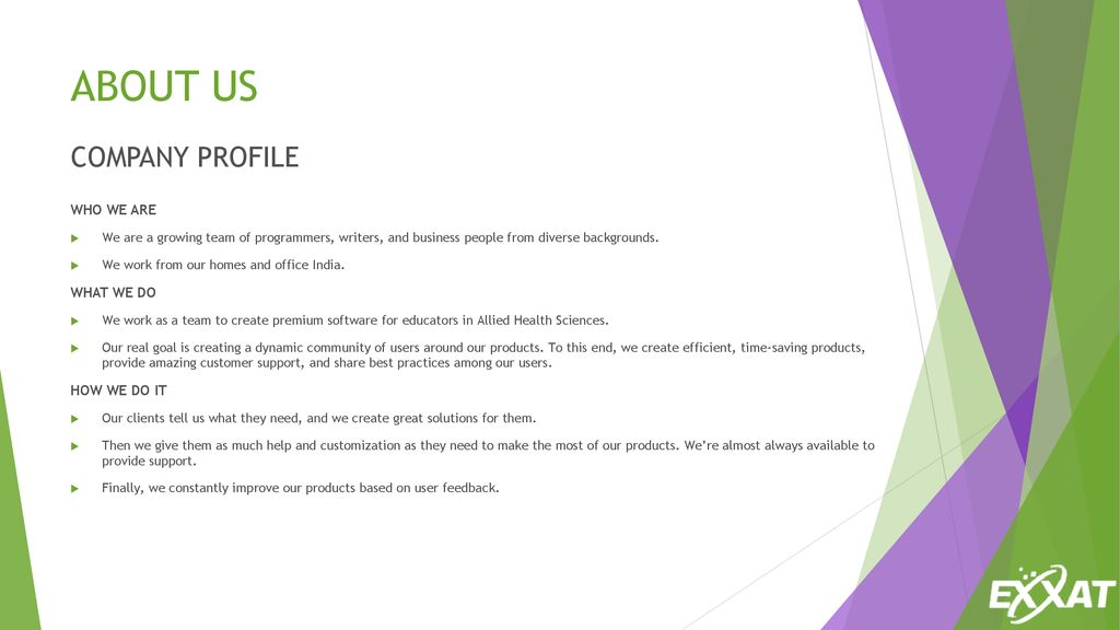 EXXAT SYSTEMS COMPANY PROFILE - ppt download