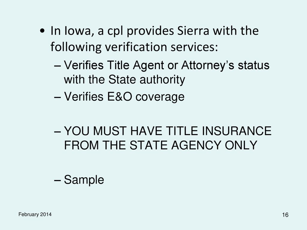 Introduction Title Agents Customarily Enter Into Agreements To Sell Policies Of Title Insurance For One Or More Title Underwriters These Agreements Normally Ppt