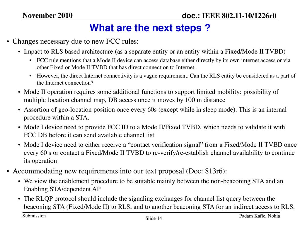 TVWS Enablement after New FCC Rules - ppt download