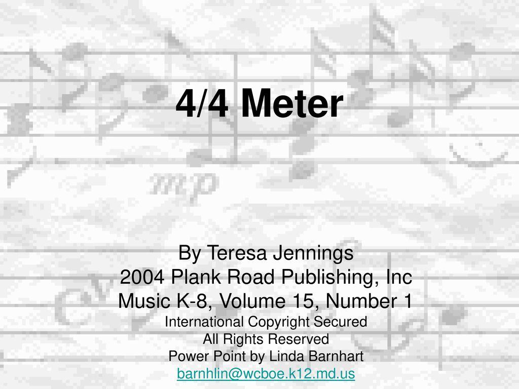 Wandplank 1 Meter.4 4 Meter By Teresa Jennings 2004 Plank Road Publishing Inc Ppt