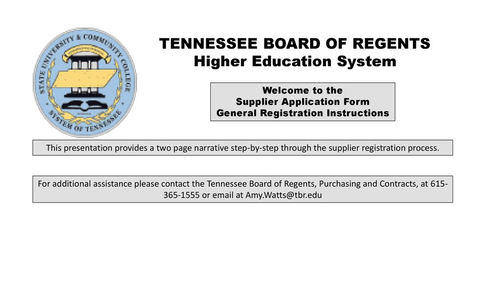 Tennessee Board Of Regents >> Tennessee Board Of Regents Higher Education System Ppt