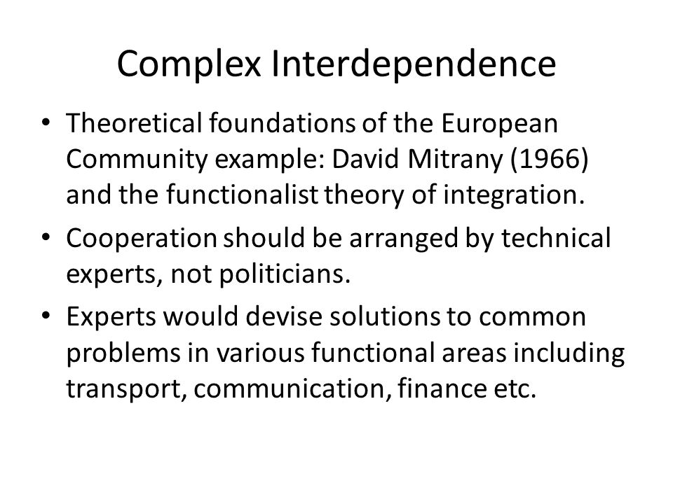 Complex Interdependence And Neoliberal Institutionalism Ppt Video
