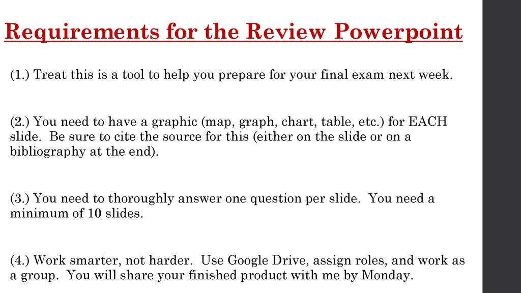Semester Review Game Directions - ppt download