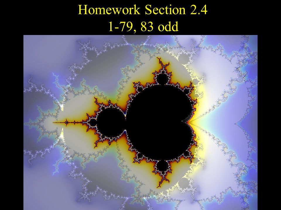 Homework Section , 83 odd