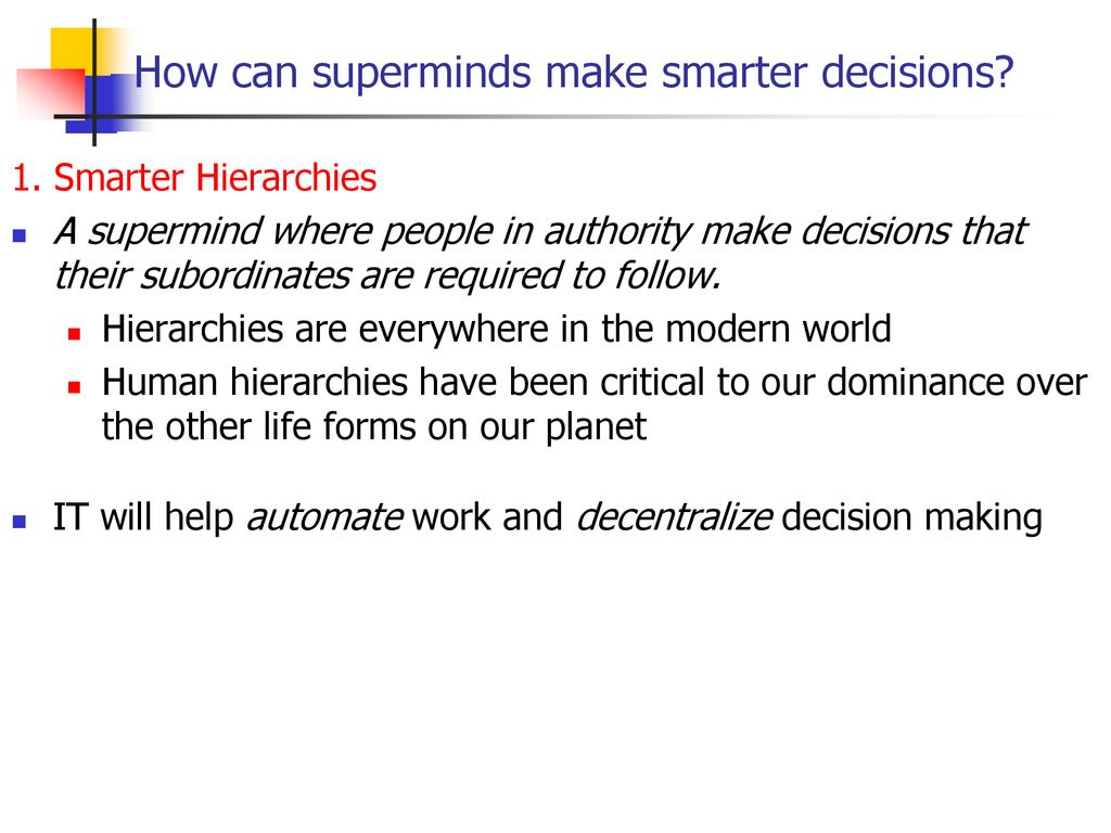 Superminds by Thomas Malone, ppt download