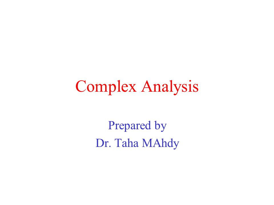 Prepared by Dr. Taha MAhdy