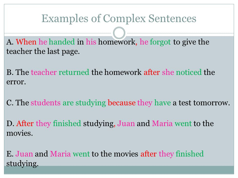 how to make sentences complex