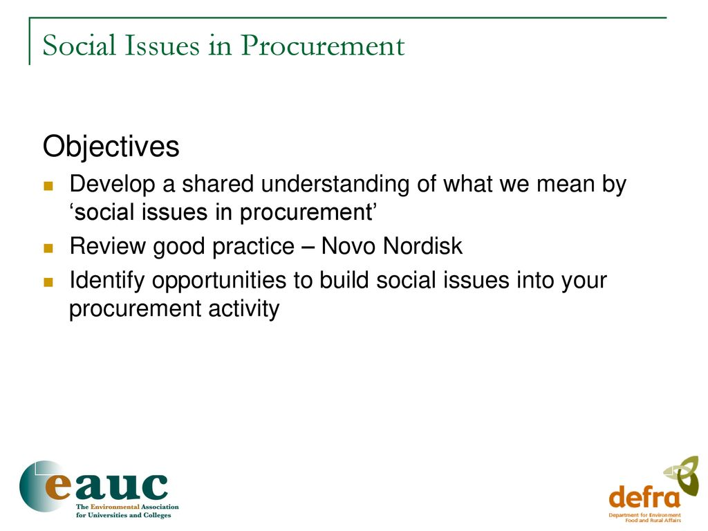 Social Issues in Procurement - ppt download