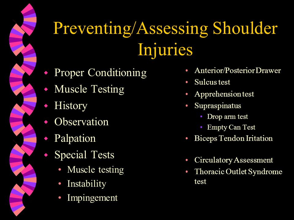 Preventing/Assessing Shoulder Injuries