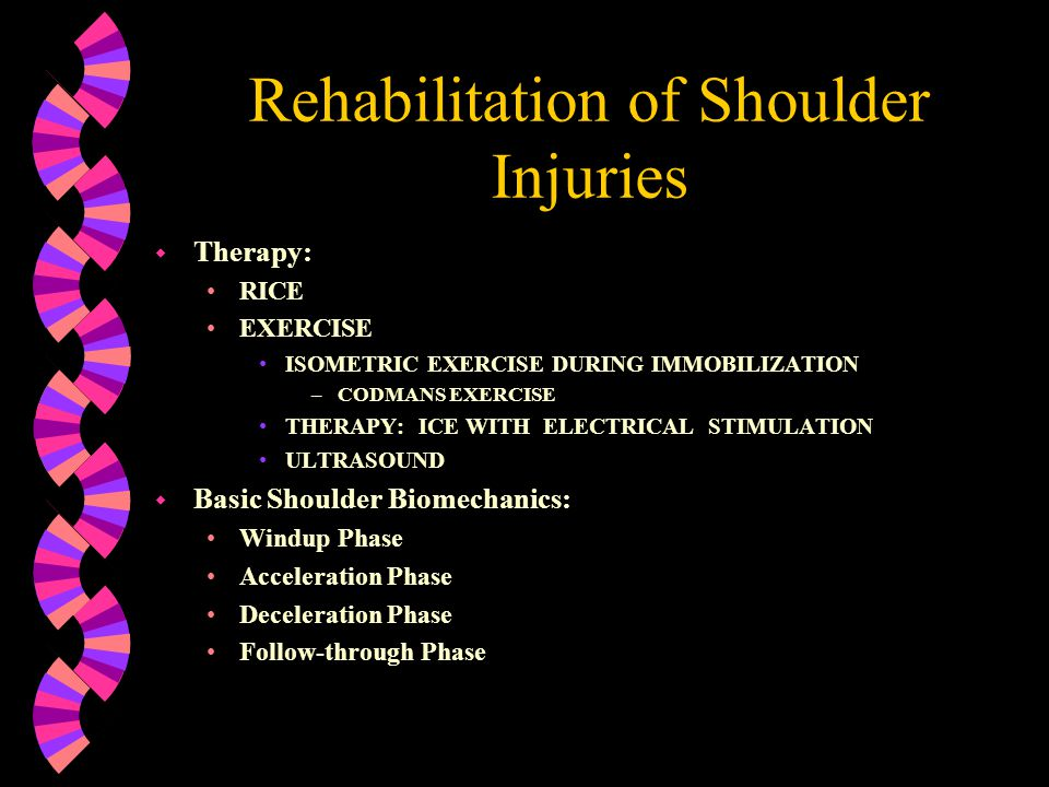 Rehabilitation of Shoulder Injuries