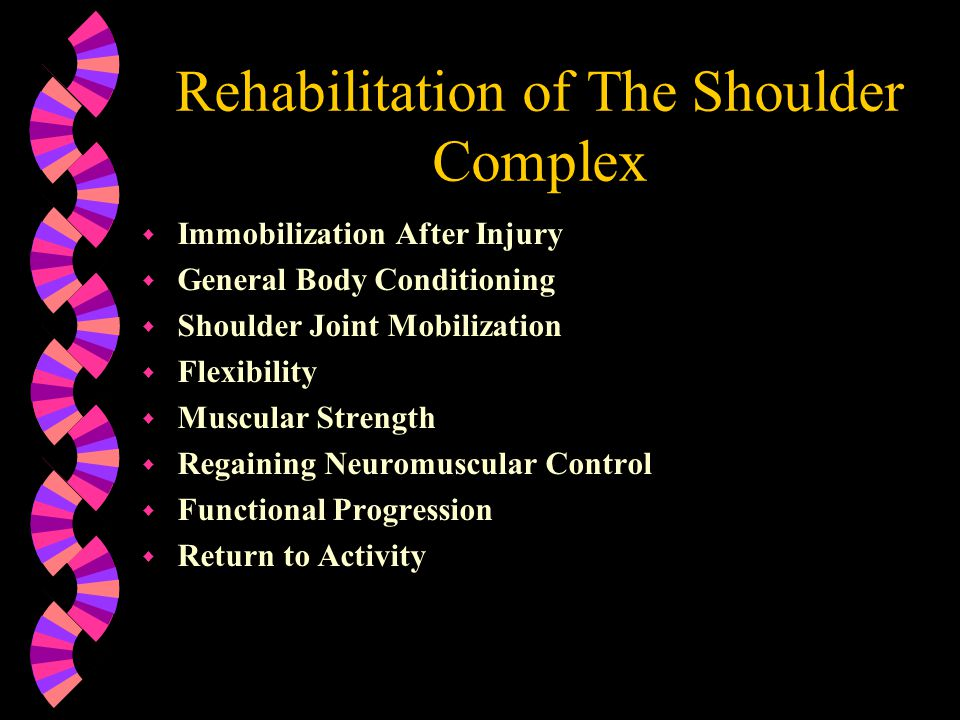 Rehabilitation of The Shoulder Complex