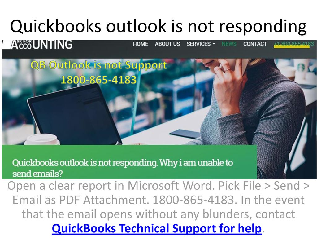 Quickbooks outlook is not responding - ppt download