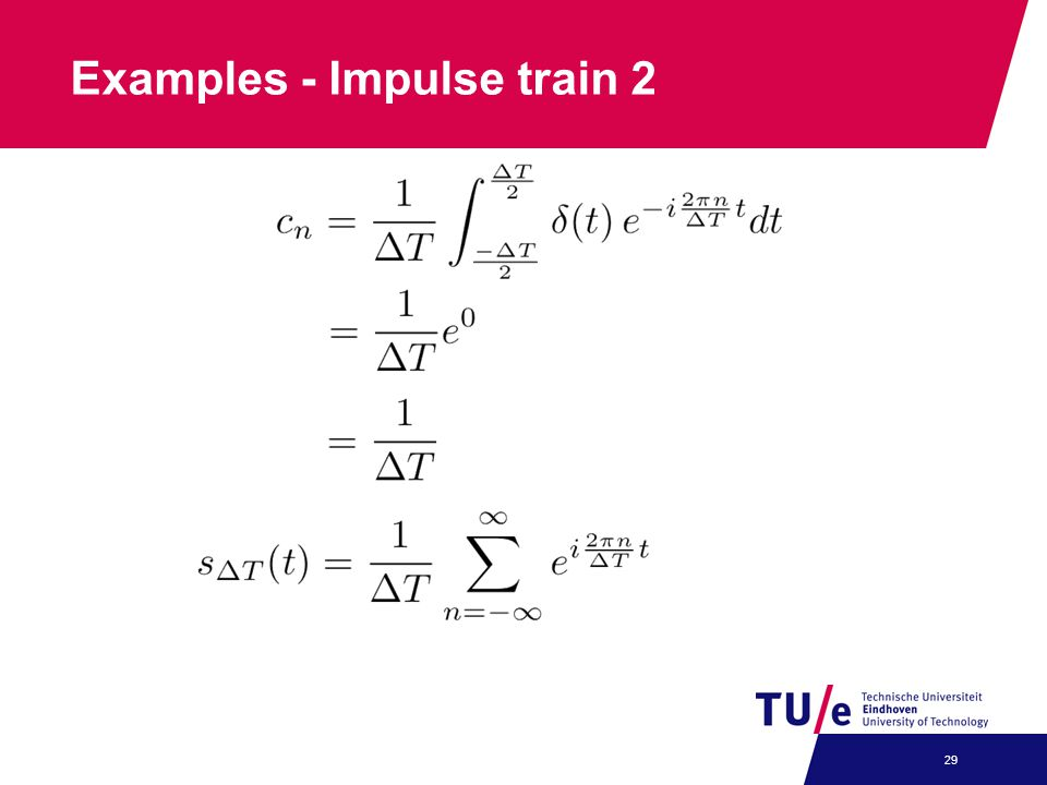 Examples - Impulse train 2