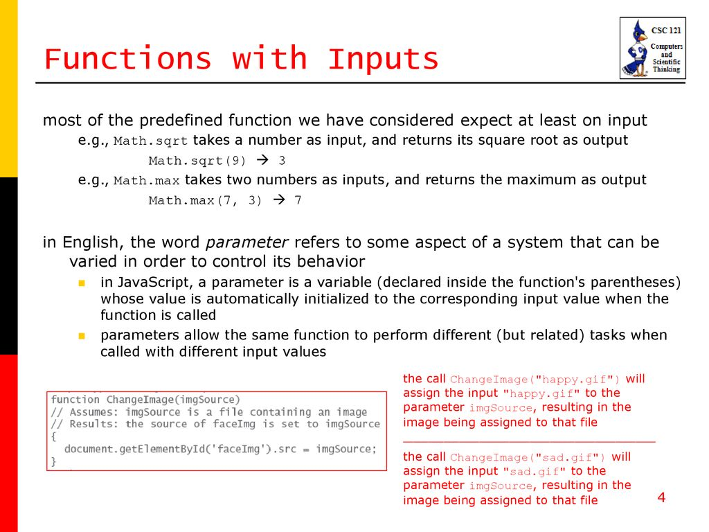 Chapter 9 Abstraction and User-Defined Functions - ppt download