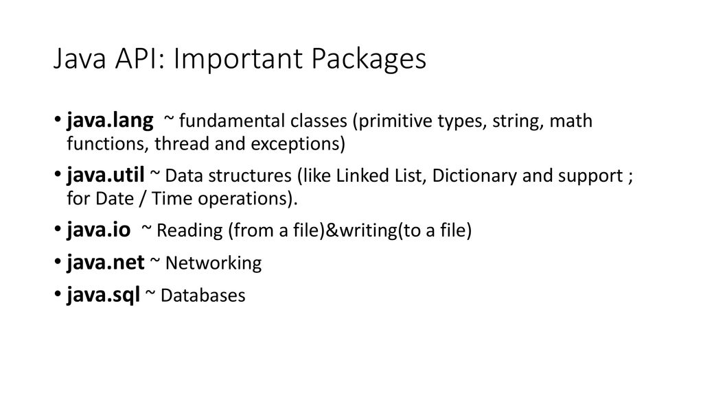 Using java libraries CGS3416 spring ppt download