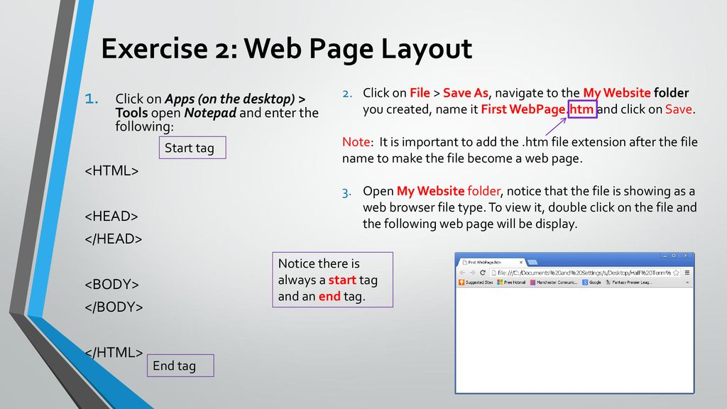 Creating your first website - ppt download