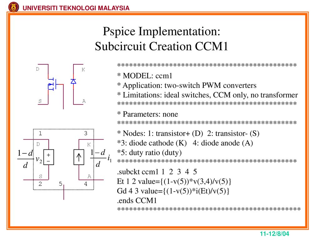 PSpice For Power Electronics - ppt download