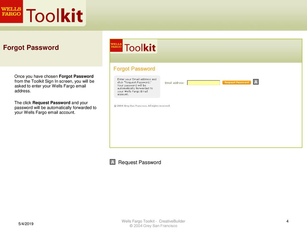 Wells Fargo Toolkit – CreativeBuilder Reference Guide - ppt