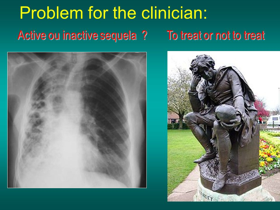 Problem for the clinician: