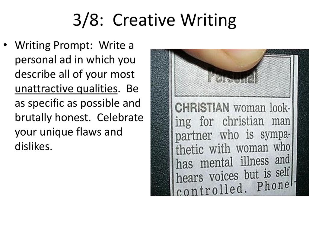 3/7: Creative Writing WP: Make a list of your 10 favorite