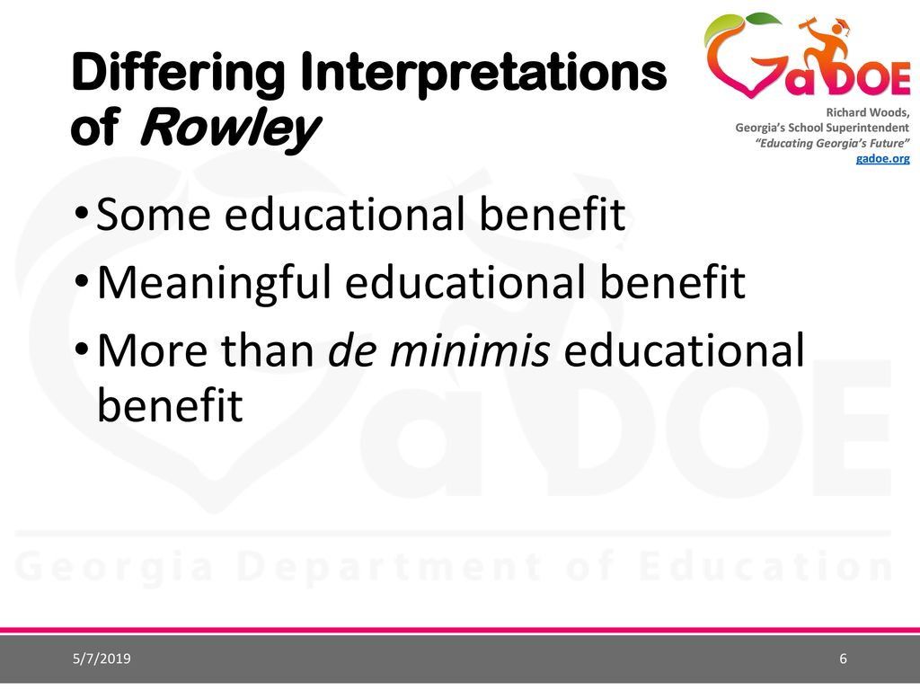 Rowley Fape Standard Some Vs Meaningful >> Endrew F And Its Impact On Families And School Districts Ppt Download