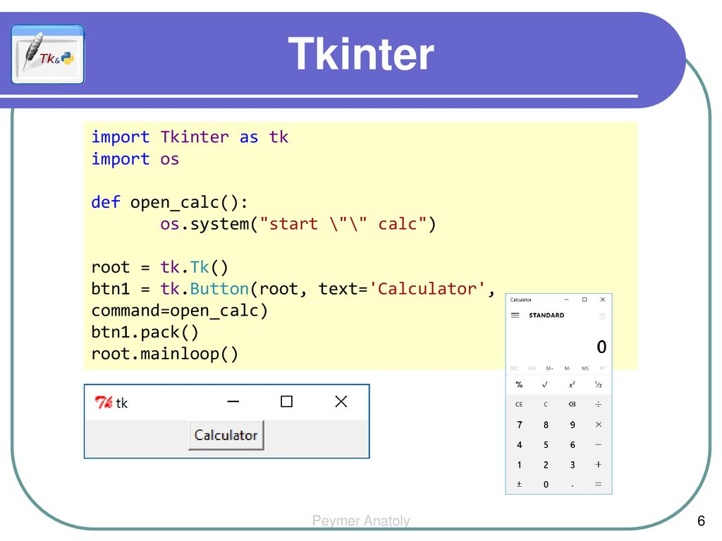 Tkinter Button import tkinter as tk root = tk Tk() - ppt download
