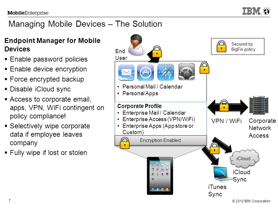 IBM Endpoint Manager for Mobile Devices Mobile Device