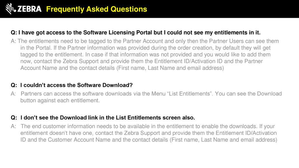 Software License Management Partner self-serve capabilities for