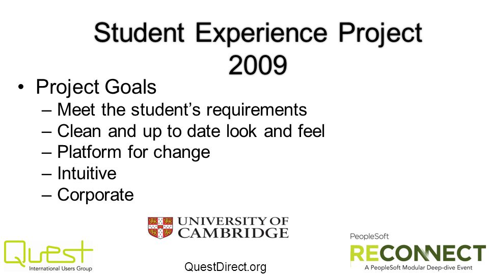 Student Experience Project 2009
