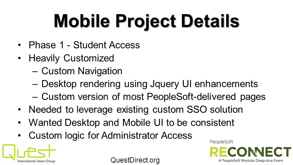 Mobile Project Details