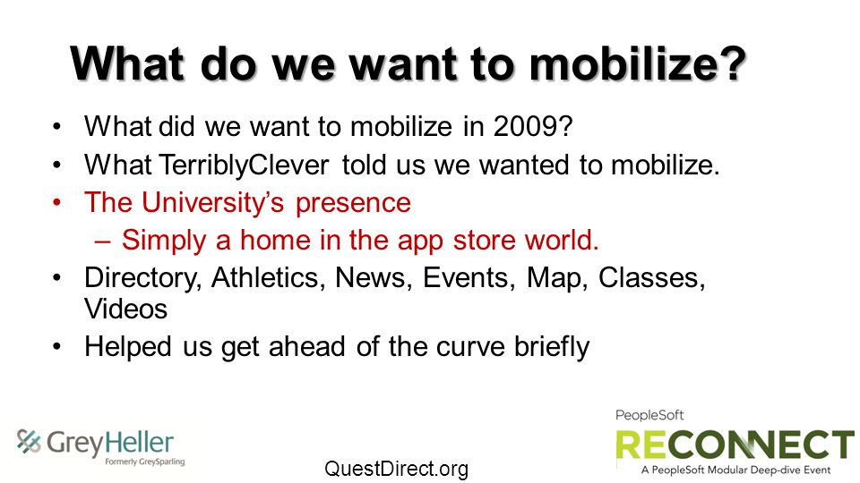 What do we want to mobilize