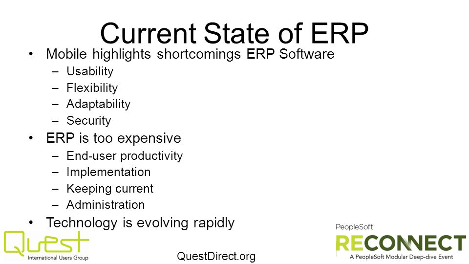 Current State of ERP Mobile highlights shortcomings ERP Software