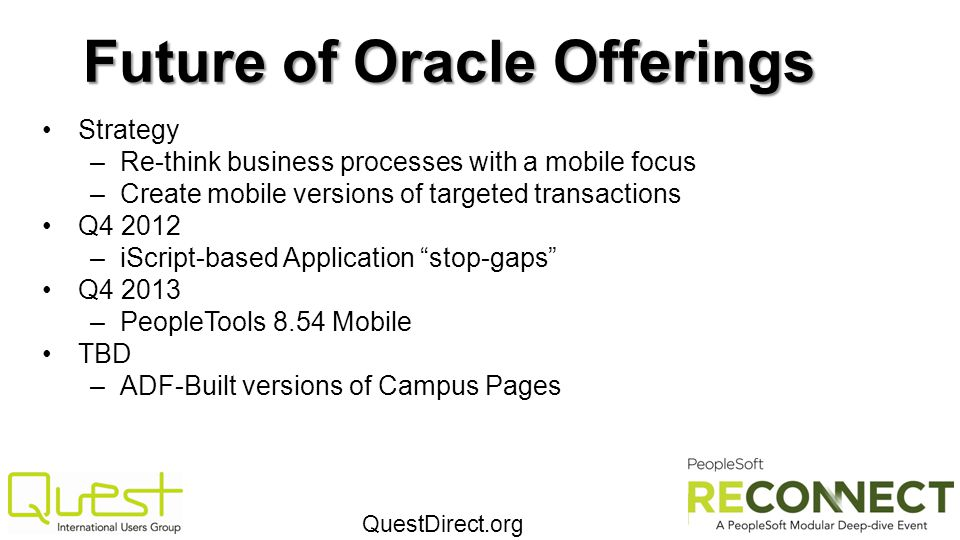 Future of Oracle Offerings
