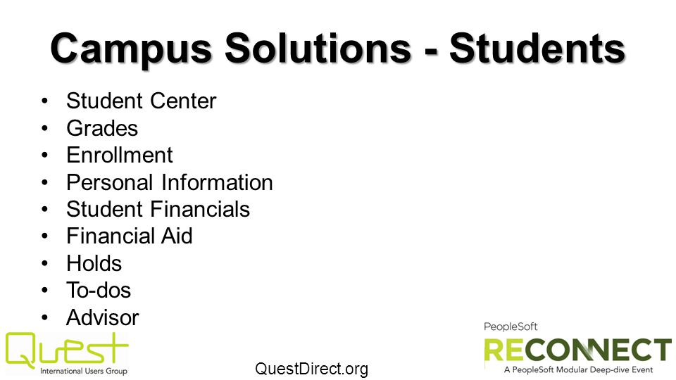 Campus Solutions - Students