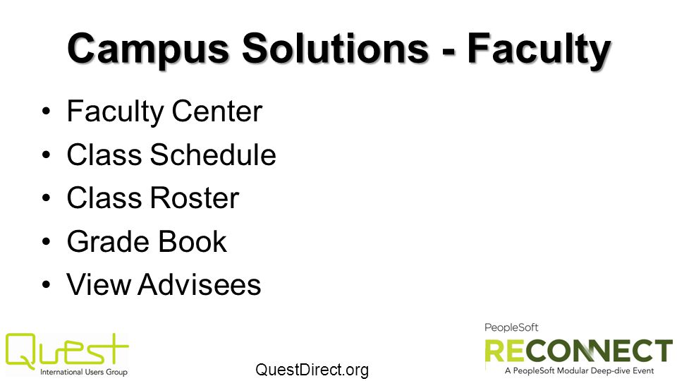 Campus Solutions - Faculty