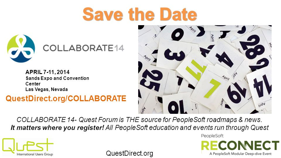 Save the Date QuestDirect.org/COLLABORATE