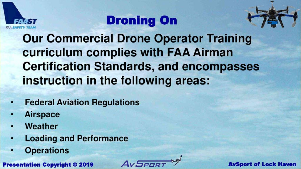 So You Want To Be a Commercial Drone Pilot? - ppt download