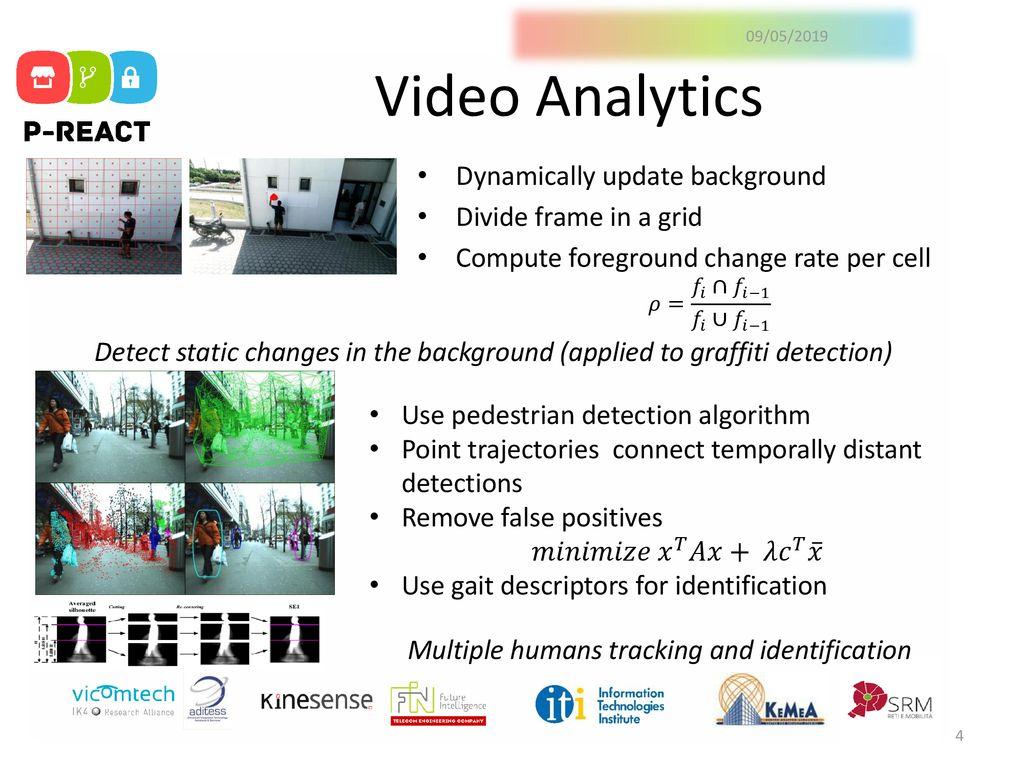 09/05/2019 P-REACT Video Analytics  - ppt download